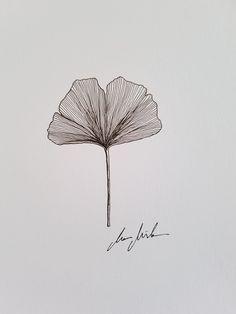 Small Tattoos, Cool Tattoos, Logo Bee, Gingko Leaf, Plant Tattoo, Deco Wreaths, Leaf Drawing, Botanical Drawings, Pretty Art