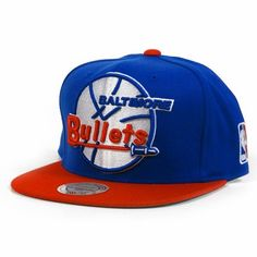 Baltimore Bullets Mitchell & Ness XL Vintage Logo 2 Tone Snapback Blue and Red Hat by Mitchell & Ness. Save 6 Off!. $24.47. Mitchell & Ness Wordmark Embroidered On Back. Raised Embroidery on Front. 80% Acrylic, 20% Wool Adjustable Snap Back Cap. Green Undervisor. NBA Logo Embroidered on Left Side. MItchell & Ness Baltimore Bullets XL Logo Two Tone Snapback Hat - Royal Blue/RedOfficially licensed NBA product80% Acrylic/20% WoolSix panels with eyeletsStructured fitAdjustable plastic snap…