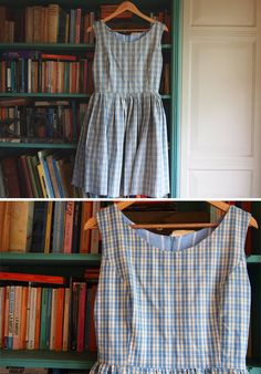 Checky Sundress Made From Vintage Cotton