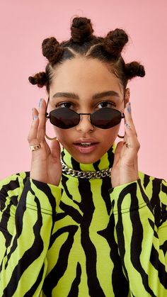 Zebra print roll neck top : Tops : Collusion in 2020 Beauty Photography, Editorial Photography, Portrait Photography, Female Photography, Fashion Photography Inspiration, Pelo Editorial, Editorial Fashion, Curly Hair Styles, Natural Hair Styles