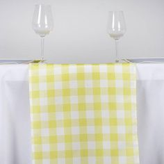 BalsaCircle 14 x Yellow Gingham Checkered Table Top Runner - Wedding Party Event Reception Occasions Linens Decorations Party Catering, Wedding Catering, Restaurant Table Tops, Checker Design, Table Overlays, Elegant Table, How To Look Classy, Table Covers, Buffalo Plaid