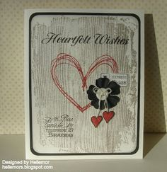 Heartfelt Wishes Card Hero Arts, Mail Art, Love Cards, I Card, Cardmaking, Christmas Cards, Fun, How To Make, Ideas