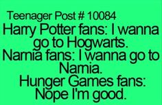 Harry Potter, Narnia, The Hunger Games