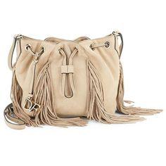 Diane von Furstenberg Boho Fringed Leather Crossbody Bag (2.010.015 IDR) ❤ liked on Polyvore featuring bags, handbags, shoulder bags, leather man bags, leather shoulder handbags, leather fringe purse, shoulder handbags and leather cross body purse