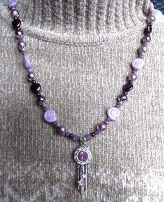 Violet Opal necklace & earrings set  SOLD!