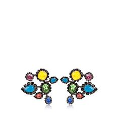 ERICKSON BEAMON Neon Crystal Earrings ($801) ❤ liked on Polyvore