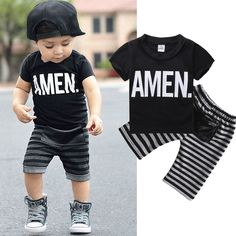 >> Click to Buy << New 2PCS Boys Kids Baby Short sleeve Tops T-shirt Shorts Outfits Clothes Set Baby Cotton Summer Clothing1-6Y #Affiliate