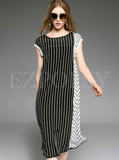 Shop for high quality Loose Stripe Patch Sleeveless Maxi Dress online at cheap prices and discover fashion at Ezpopsy.com
