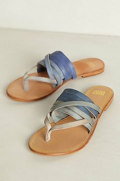 Dip-Dye Sandals #anthropologie