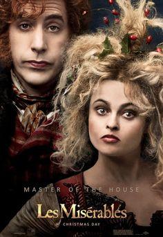 Helena Bonham Carter and Sacha Baron Cohen from new Les Miserables poster