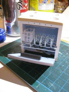 large and in charge - building a modern dollhouse this is one of the many pieces created for it - wow!