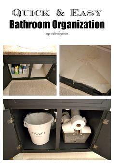 mycreativedays: Quick & Easy Bathroom Organization