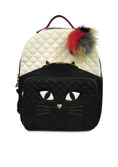 Betsey Johnson Cat Face Backpack