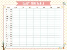 Monthly Work Schedule Time Table Template Word - Free 2020 Printable Calendar, Blank Templates, Coloring Pages, & Holidays Revision Timetable Template, Study Schedule Template, Daily Schedule Printable, School Timetable, Schedule Design, Weekly Planner Printable, Planner Template, Timetable Planner, Free Printable