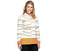 """""""As Is"""" Susan Graver Printed French Terry Zip Front Long Sleeve Jacket Information"""