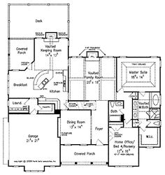 Floor plans on pinterest cottage floor plans mansion for House plans with keeping rooms
