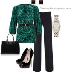 Green Work Chic by lisa-eurica on Polyvore