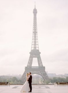 For all the obvious reasons including that it's the city of love, Paris marks a spot on our list of Top 15 Destination Wedding Locations. Photographer: Rebecca Yale via Style Me Pretty