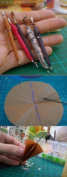 Miniature umbrella tutorial