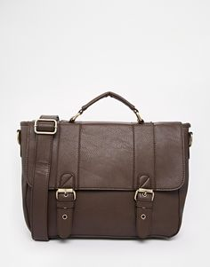 New Look Satchel Bag in Faux Leather