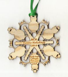 Snowman Snowflake Ornament ~ available for free personalization. Shown here in recycled blue pine wood. Wooden Ornaments, Snowflake Ornaments, Snowflakes, Christmas Ornaments, Fort Collins, Wood Wood, Recycled Wood, How To Make Ornaments, Pine