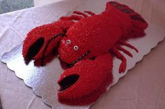 Lobster Grooms Cake - my cousins new hubby dresses as a lobster for Madi Gras! Lobster Cake, Lobster Fest, 9th Birthday, Birthday Cakes, Birthday Ideas, Elephant Cakes, Crab Shack, Cake Shapes, Under The Sea Party