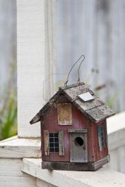 Bird houses look so nice around the yard! Bird houses look so nice around the yard! Bird House Plans, Bird House Kits, Bird Houses Diy, Fairy Houses, Bird House Feeder, Bird Feeders, Birdhouse Designs, Birdhouse Ideas, Rustic Interiors