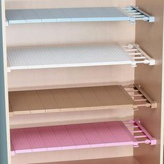 Cheap cabinet holder, Buy Quality shelves cabinets directly from China kitchen rack Suppliers: Adjustable Closet Organizer Storage Shelf Wall Mounted Kitchen Rack Space Saving Wardrobe Decorative Shelves Cabinet Holders Wardrobe Storage, Wardrobe Closet, Closet Storage, Storage Shelves, Storage Spaces, Storage Rack, Extra Storage, Diy Closet Shelves, Cheap Storage