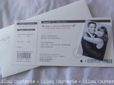 Faire part mariage billet de concert theme musique Ticket Spectacle, Billet Concert, Love Days, Boarding Pass, Wedding Day, Mood, Etsy, Laurent, Cabaret
