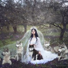 What Happens When Fairytales Come To Life? These Magical Photography Of Margarita Kareva Will Show You! Margarita Kareva i. Fantasy Queen, Dark Fantasy, Fantasy Art, Margarita, Fantasy Photography, Magical Photography, White Wolf, Foto Art, Belle Photo