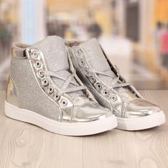 Ghete Dama Urban Argintii Cod: 873 Cod, High Tops, High Top Sneakers, Urban, Casual, Shoes, Fashion, Moda, Zapatos