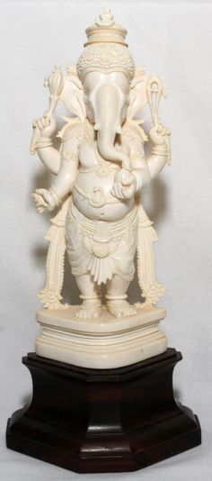 Lot 1202 – INDIA CARVED IVORY FIGURE, – Three Day Sale of Art and Antiques 17 Jan 2014