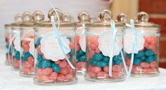 Shabby Chic First Birthday ~Jelly beans in a jar