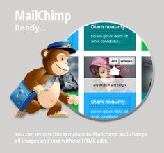Best PSD To MailChimp Email Template Images On Pinterest Email - Mailchimp psd template
