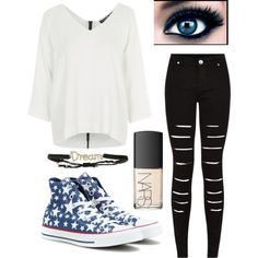 Untitled #1125 by beau-4-ever on Polyvore featuring polyvore, fashion, style, Topshop, Converse and Tai