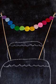 felt rainbow garland (would use felted balls)