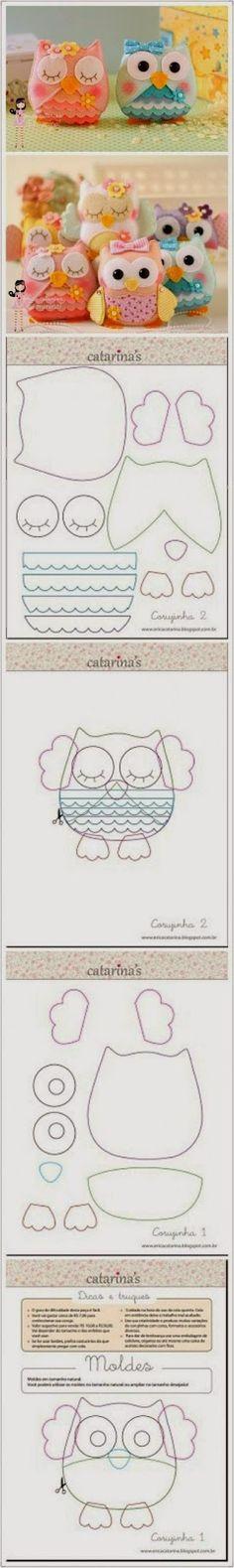 ♥Só idéias♥: coruja em feltro