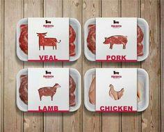 Meat packaging.