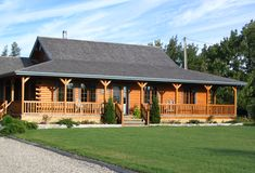 1000 ideas about one story homes on pinterest house for Single story log homes