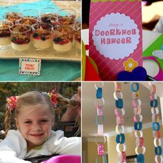"This is my favorite blog about Pancakes & Pajama Party.  Lots of food ideas.  She even made the table look like a bed for ""breakfast in bed""."