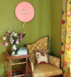 Hazlo tu mismo: Botones gigantes : Me encantan estos botones gigantes, un complemento decorativo original, ideal para una habitación de costura y también para cualquier pared del hogar. Lo q