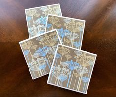Drink Coasters Wildflower Drink Coasters Rustic Drink