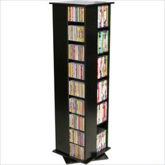 Venture Horizon CD/DVD Spinning Tower-Oak