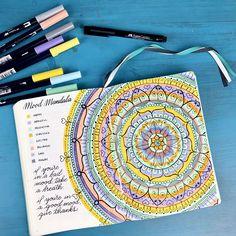 Fill in a Mood Mandala