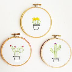 Cactus Embroidery Hoop Art Hoop Embroidery Wall by Cocoshoopla