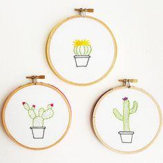 Cactus Embroidery Hoop Art Hoop Embroidery Wall by Cocoshoopla