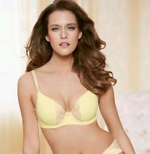 bf9d69748ae06 Embraceable™ Full Coverage Lace Trim Bra   Hipster Panty in Yellow Cream…