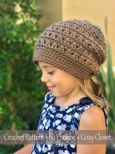 Click HERE for the PDF pattern! #CrochetBeanie