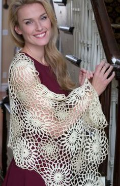 Galactic Shawl Free Crochet Pattern from Red Heart Yarns