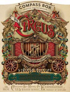 "The all new Compass Box "" The Circus"" Circo Vintage, Art Vintage, Vintage Signs, Vintage Ads, Vintage Images, Vintage Circus Posters, Retro Poster, Circus Art, Circus Theme"